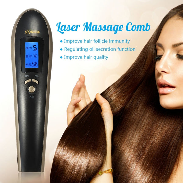 Hair Growth Care Treatment Infrared Massage Laser Comb Anti  Loss Therapy Regrowth Restoration Grow Vibrator Brush