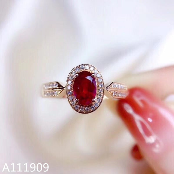 KJJEAXCMY boutique jewelry 925 sterling silver inlaid Natural ruby ring female models support detection beauty