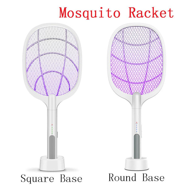 Portable USB Rechargeable Fly Mosquito Racket Mug Killer Household Electric Hand Held Bug Zapper Insect Fly Swatter Racket