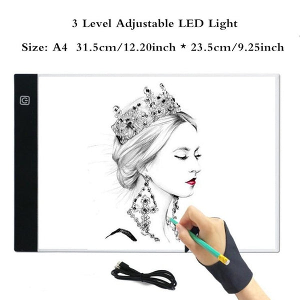 Dimmable A4/ A5 Led Light Pad Diamond Painting Tablet Eye Protection Copy Board LED Drawing Tablet for Diamond Embroidery Stitch