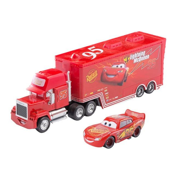 Disney Pixar Cars 3 Toys Car Set Lightning Mcqueen Mack Uncle Truck Rescue Collection 1:55 Diecast Model Car Toy Children Gift