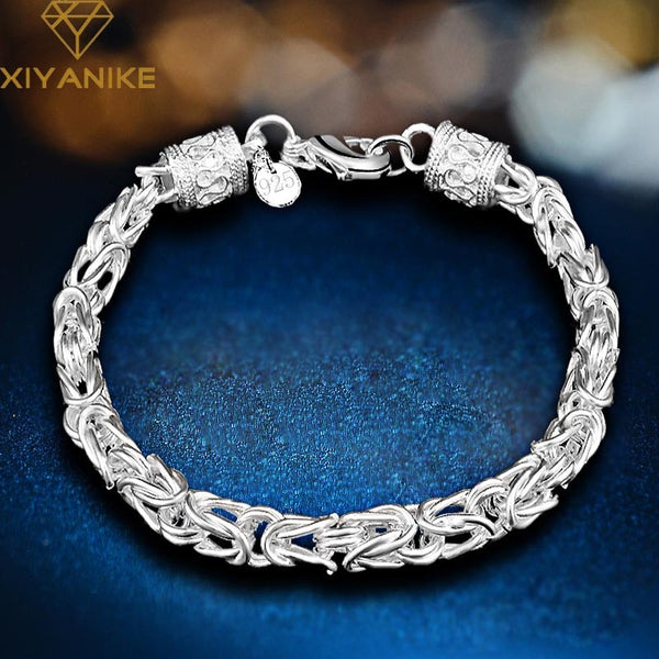 XIYANIKE 925 Sterling Silver Anniversary Gift Creative Vintage Bracelets For Women Lovers Trendy Handmade Jewelry Gift