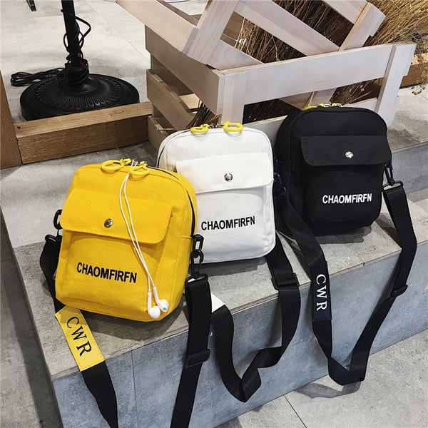 Women Shoulder Bag Fashion Pure Color Casual Tote Outdoor Bag Canvas Handbag Zipper Messenger Messenger Bags Sac Main Femme