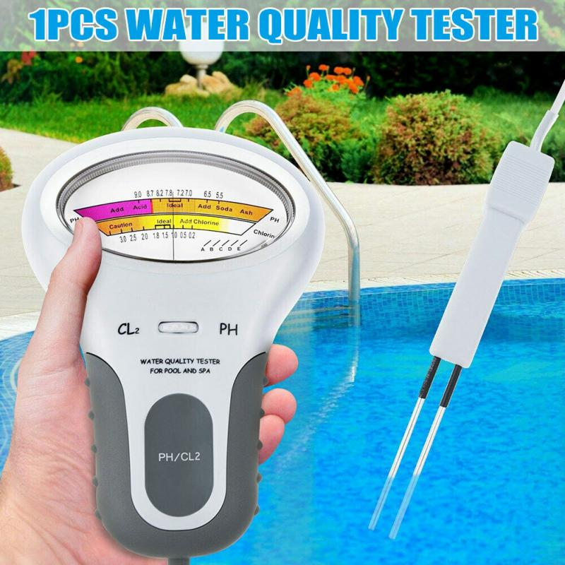 Digital 2 In 1 Water Quality PH And Chlorine Level CL2 Tester Meter For Swimming Pool Spa Drinking Water Quality Analys