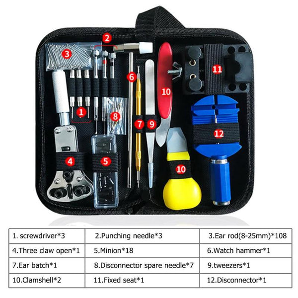 147pcs Watch Repair tool Kit Watch Link Pin Remover Case Opener Spring Bar Remover Horlogemaker Gereedschap Repair Tool Kit