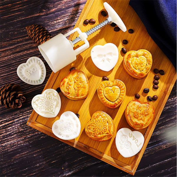 Sale Pastry Supplies DIY Snowy Moon Cake Mold Kitchen Accessories Baking Tray Baking Mold Gadgets New Year Christmas Decor.TJz