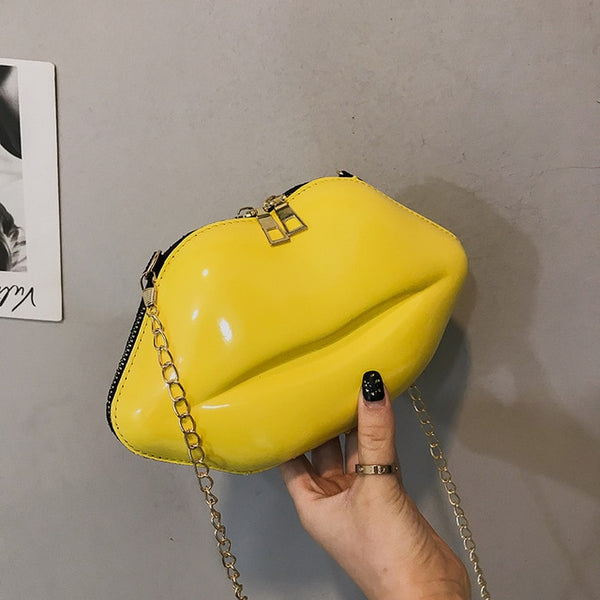 Mini Trendy All-match Women's Bag New Luxury Designer Zipper Women's Shoulder Bag Lip Shape Clutch Fashion PVC Messenger Bag