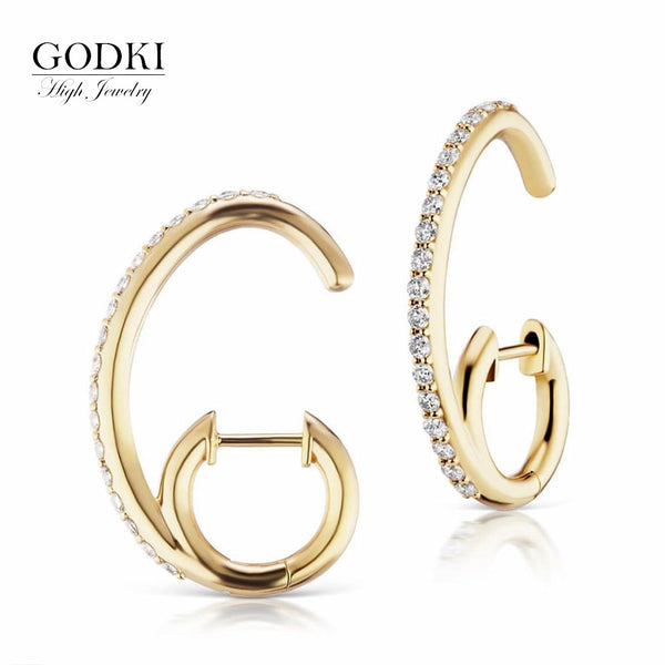 GODKI Real 925 Sterling Silver Earrings Handmade Designer Lovely Bee With Simulated Pearls Stud Earrings for Women Wedding Party