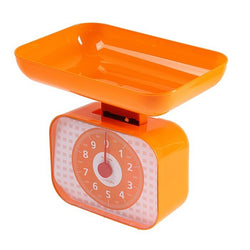 Kitchen scales LuazON LVKM-1001, mechanical, up to 10 kg, bowl 1200 ml, orange 3089930