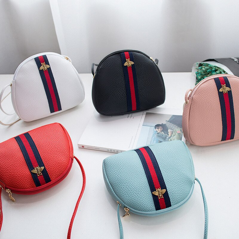 Women Girl's Travel Phone Crossbody Bag Mini Messenger Bag Zipper Simple Designer Handbag Shoulder Bag Clutch