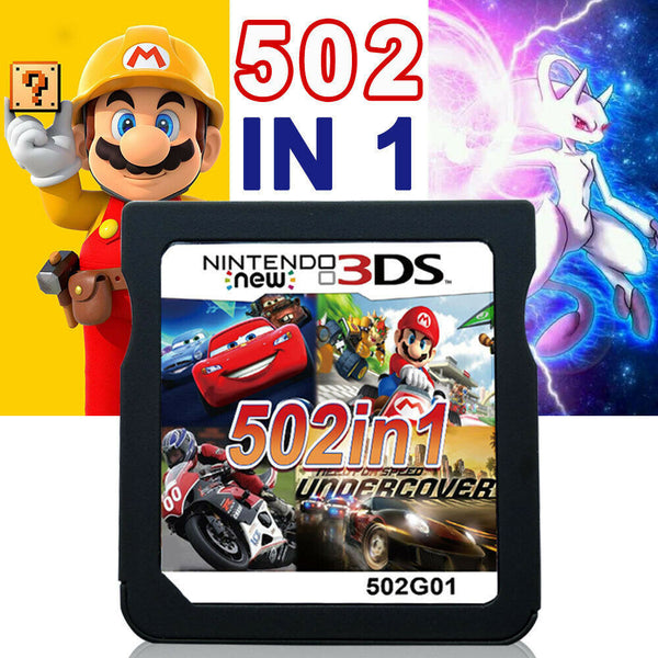 Racing Album 502 Games in 1 NDS Game Pack Card Super Combo Cartridge for Nintendo NDS DS 2DS New 3DS