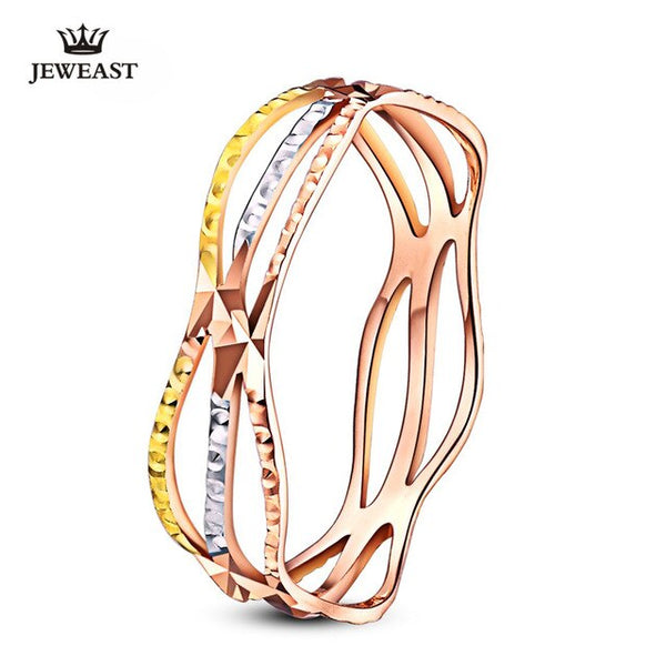 18k Pure Gold Color Ring Trendy Design Smart Women Fine Jewelry Miss Girl Gift Party Discount 2020 New Good Nice Like Beauty