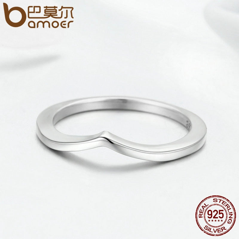 925 Sterling Silver Shining Wish Female Ring Finger Ring for Women Sterling Silver Jewelry Anel PA7647