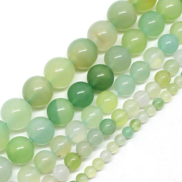 Natural Stone Beads Prehnite Jade Stone Beads For Jewelry Making Bracelet Necklace 15inch 4/6/8/10/12mm pick size