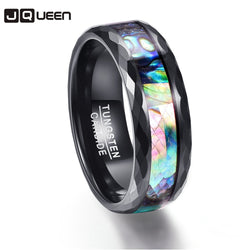 Multi-faceted Polishing Promise Band Men Rings Middle 100% Tungsten Carbide Multi-size Anillos para hombres Pierscienie