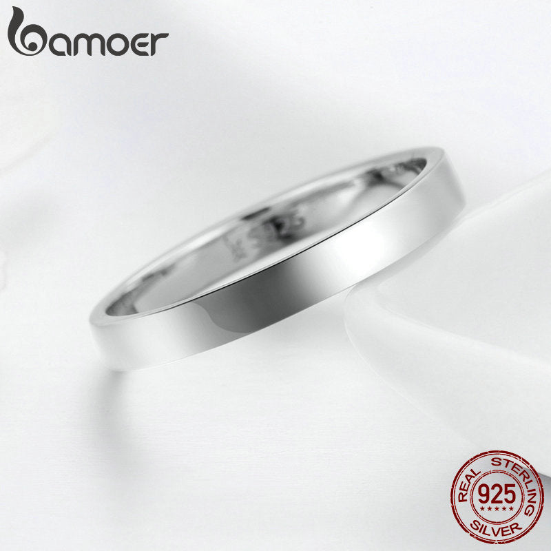 925 Sterling Silver Wedding Ring Classic Round Finger Ring Women Wedding Engagement Jewelry Gift SCR343