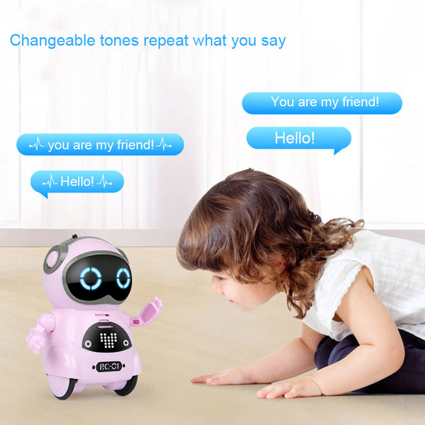 Multifunctional Electric Voice Smart Mini Pocket Robot Early Educational Interaction Tale Robot BM88