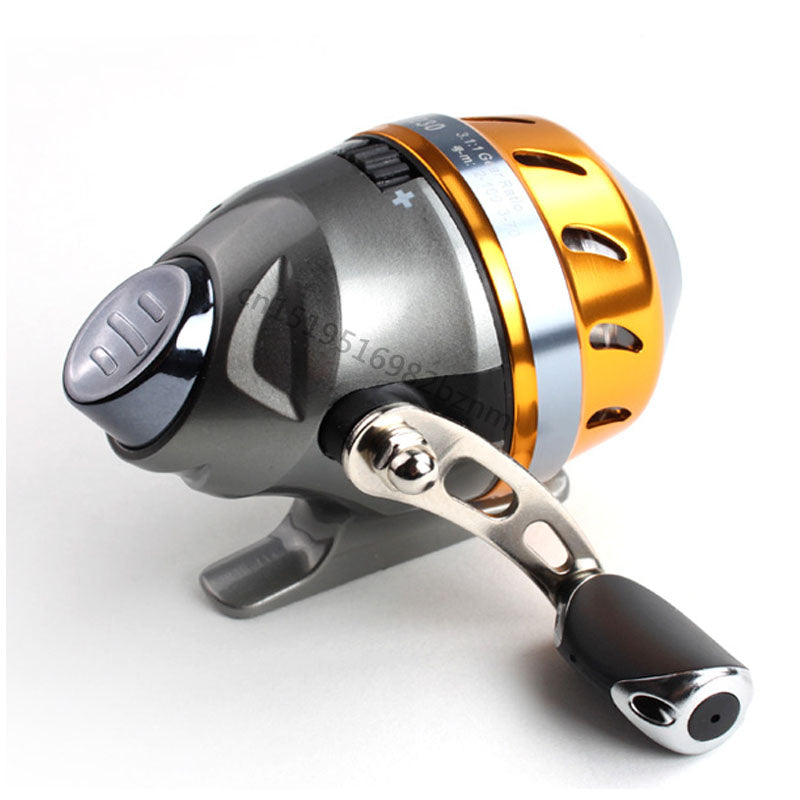 Slingshot fishing Reel Spinning Hand Wheel 2 BBCatapult Outdoor Hunting Closed Reel With Line