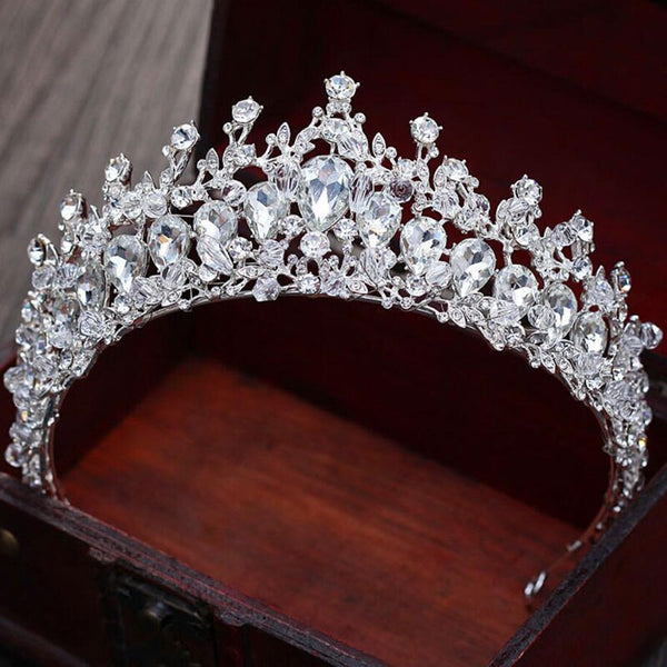 Luxury Design women crown headwear bride wedding tiara bridal makeup headdress princess baroque crown wedding hair accessories