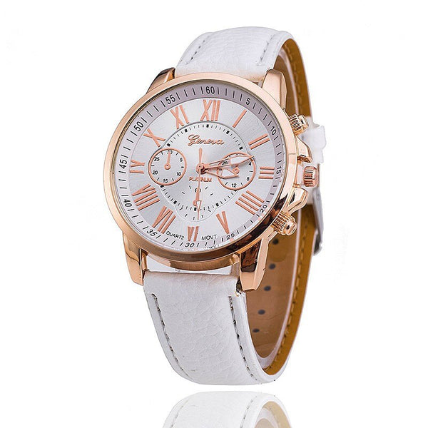 Relogio Feminino New Fashion Luxury Brand women Derss Casual Quartz Watch Men business Leather Strap Watches Hot Sale Clock