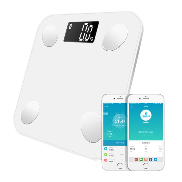 Bluetooth Bathroom Floor Body Scale Electronic Scientific Digital Weight Smart Body Fat Health Balance Fat Water Muscle Mass BMI