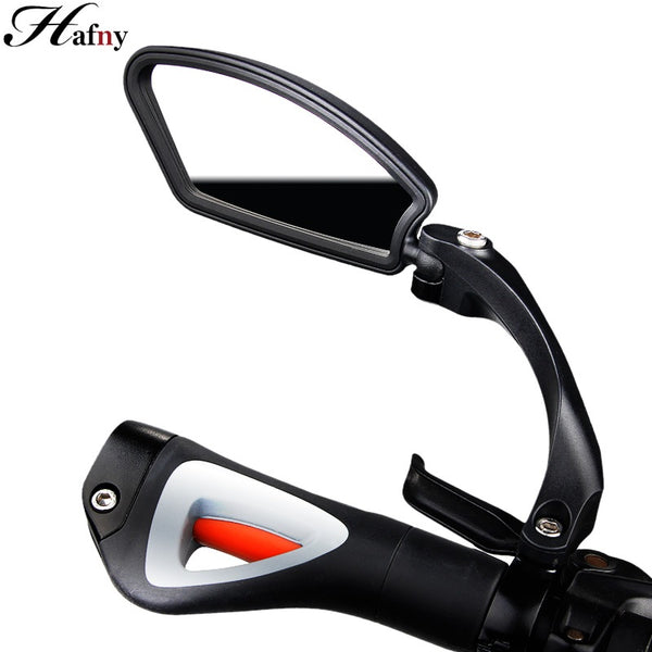 Hafny Bicycle Stainless Steel Lens Mirror MTB Handlebar Side Safety Rear View Mirror Road Bike Cycling Flexible Rearview Mirrors