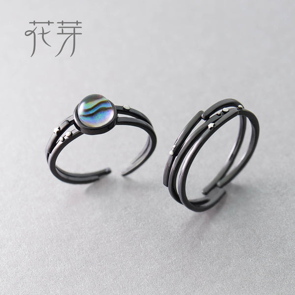 Stars Milky Galaxy Astronomy Ring Magical Gemstone 925 Sterling Silver Party Handmade Bands Jewellery for Women