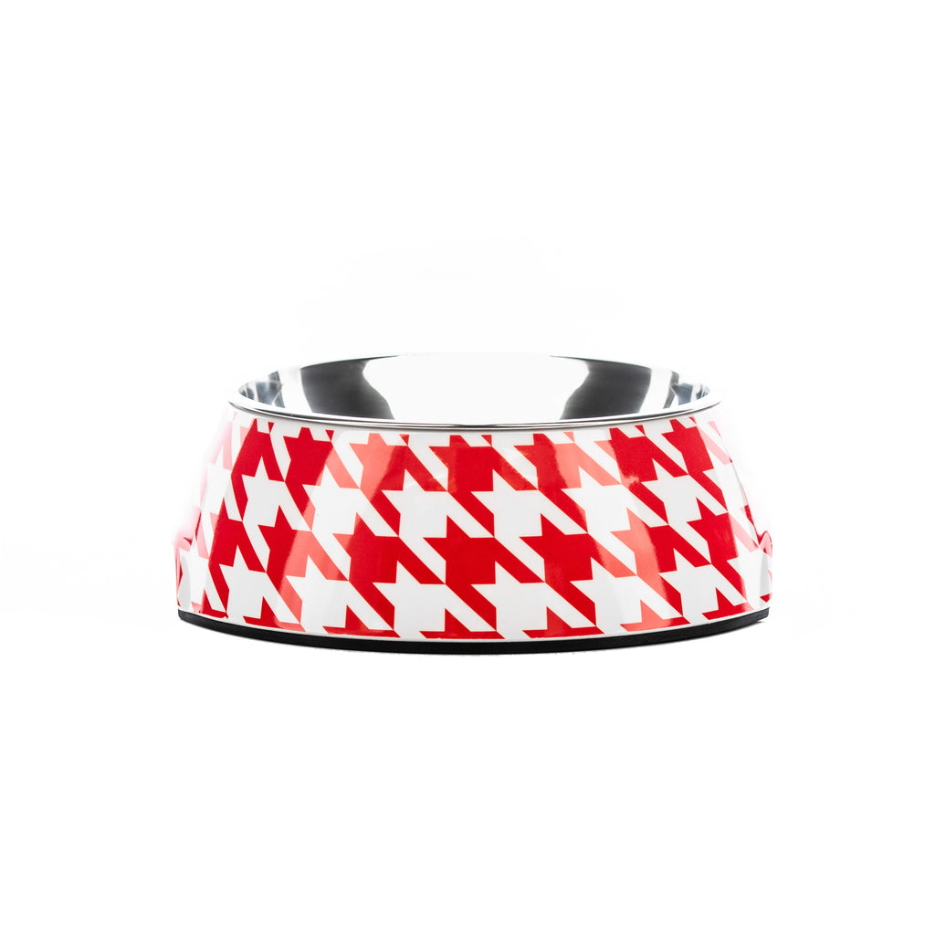 Vintage Red Houndz Dog Bowl | Houndztooth