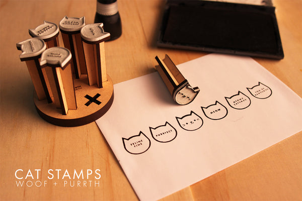 Cat Stamp Set | Woof & Purrth