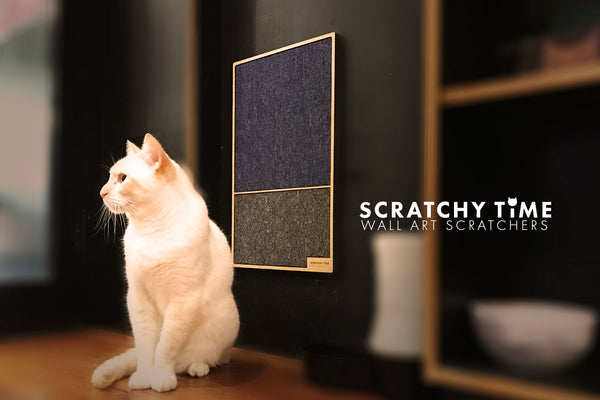 Scratchy Times Wall Mounted Designer Cat Scratcher | Woof & Purrth