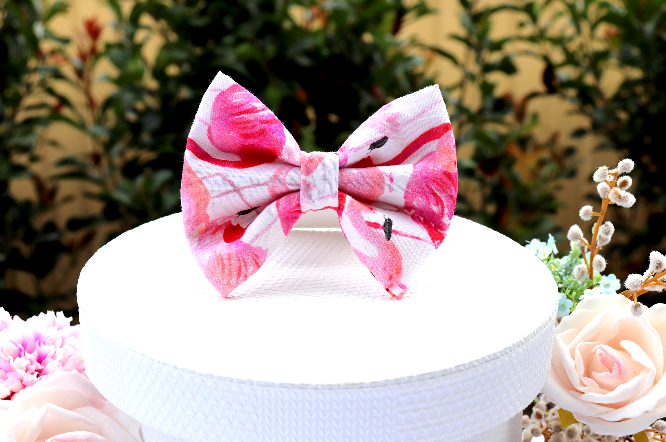 Flamingo Haze - Pet Bow Tie | DapperDorable