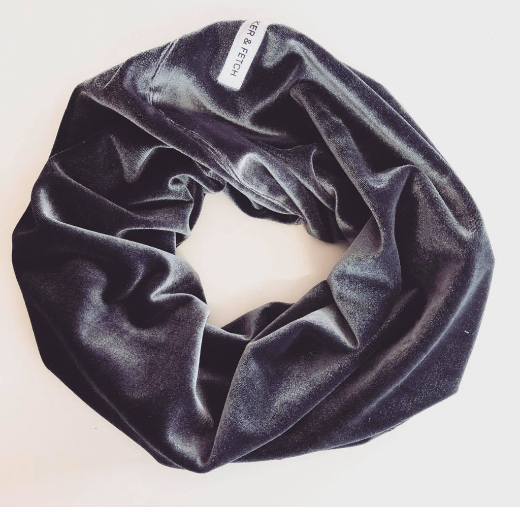 Luxe Infinity Scarf In Steele | Barker & Fetch