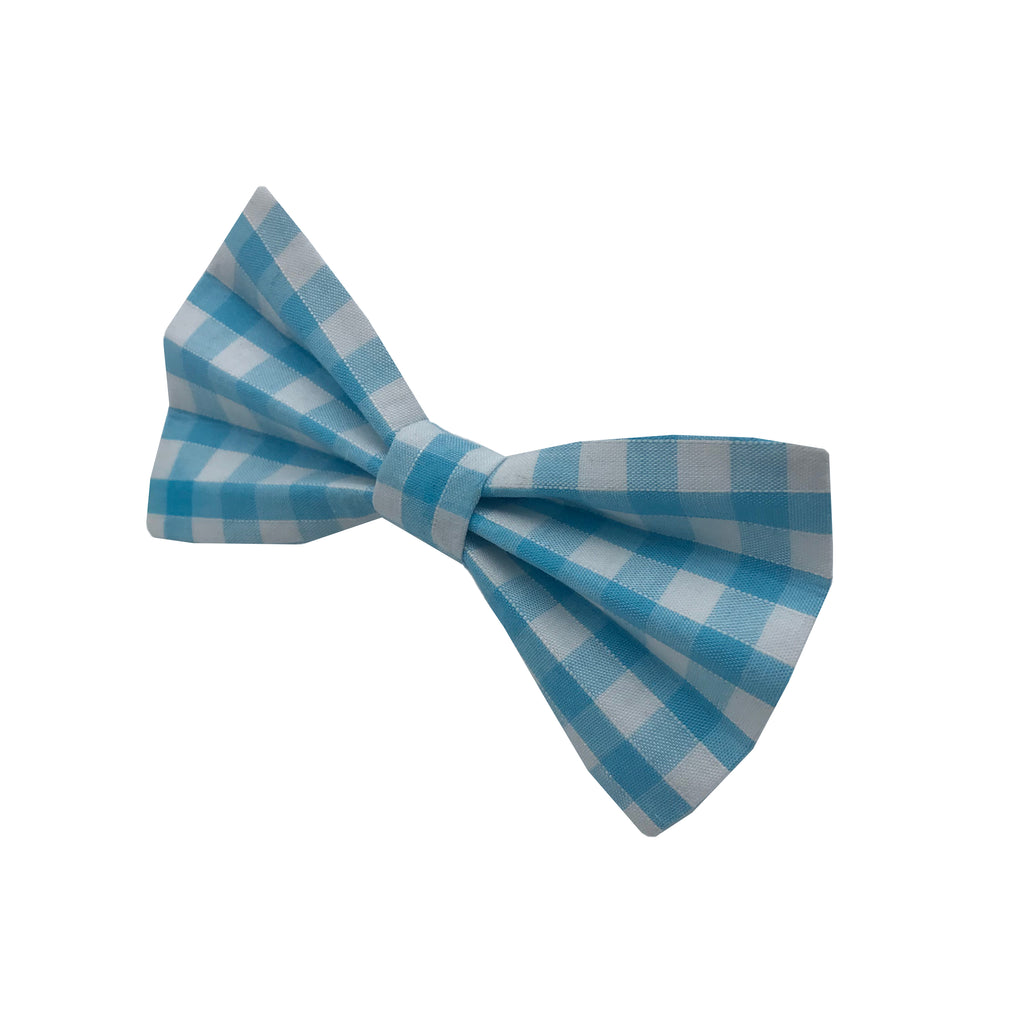 Aqua Gingham Bow Tie | LOVEPUP
