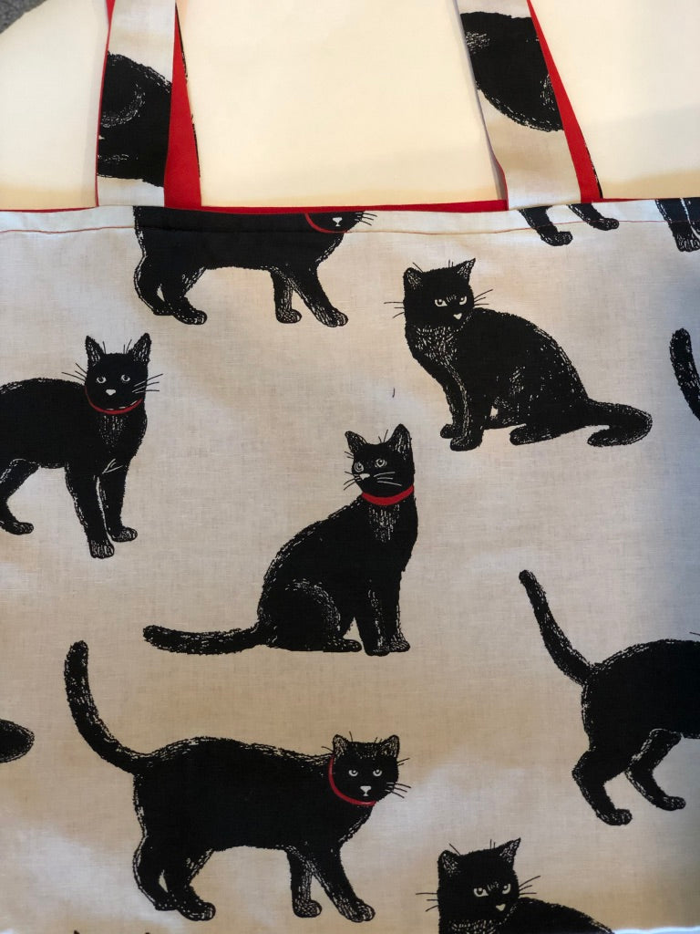 Black Cat Tote Bag | Barkberry Manor