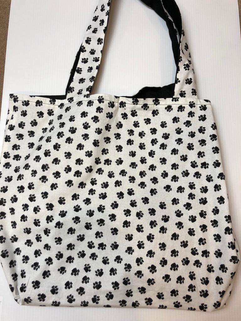 Paw Prints Tote Bag | Barkberry Manor