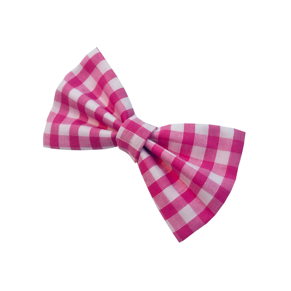 Pink Gingham Bow | LOVEPUP