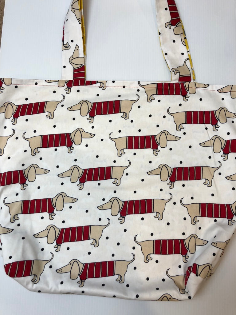 Red Sausage Dogs Tote Bag | Barkberry Manor