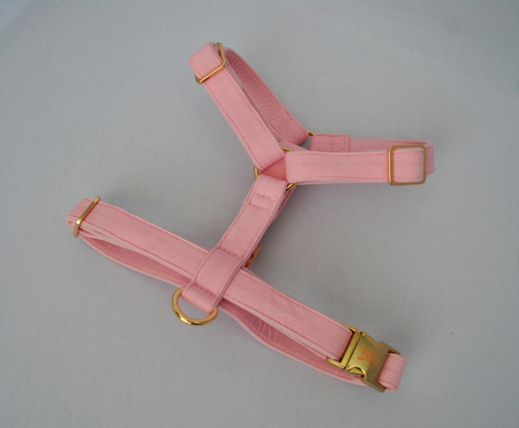 Pink Velvet Harness | BK Boutique Pets