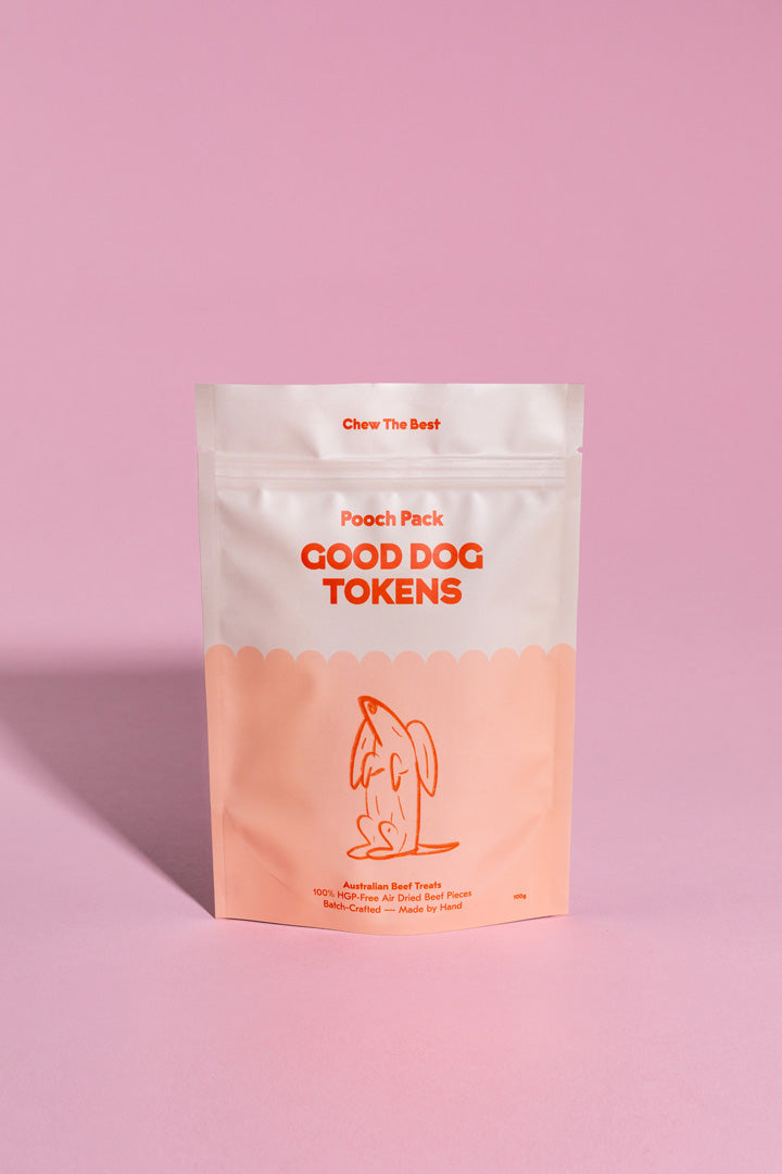 Good Dog Tokens - Beef 100g | Pooch Pack