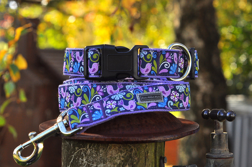 Birds of Paradise Ribbon Dog Collar | Nuts About Mutts