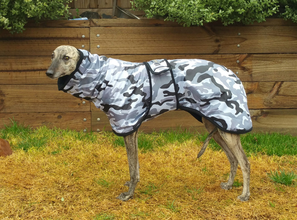 Camo - Whippet Rainproof Coat | CozyGreys