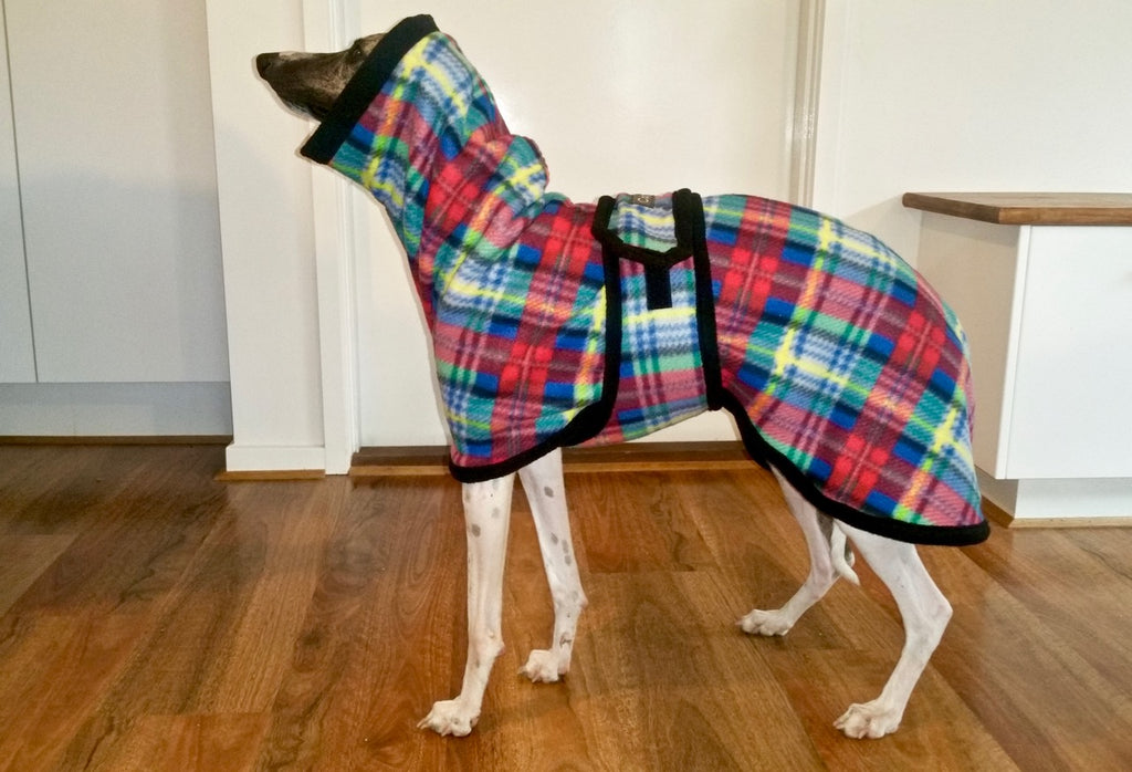 Red Tartan - Whippet Cozy Coat | CozyGreys