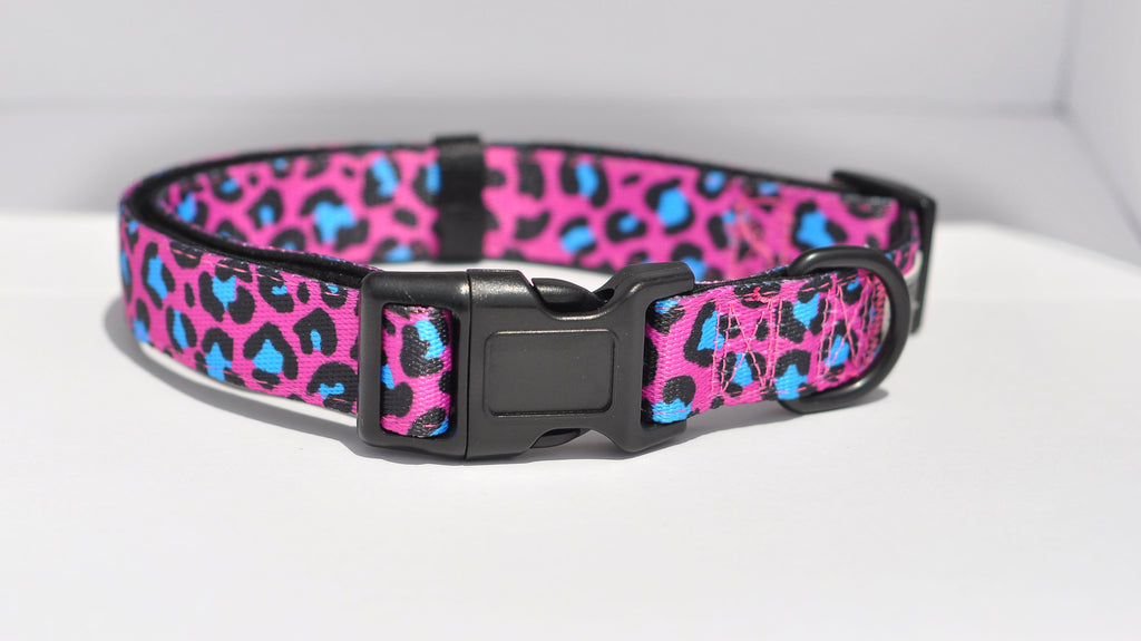 Hot Pink Leopard Dog Collar | Nuts About Mutts