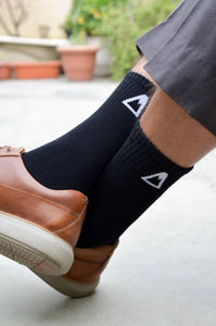Black Crew Socks<span class='divider'> | </span><span class='material'>Bamboo <img class='product-icon' src='https://cdn.shopify.com/s/files/1/0071/2087/9673/files/bamboo.png?7221612615797513241'></span> - Aslee
