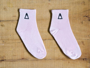 Pink Quarter Socks<span class='divider'> | </span><span class='material'>Bamboo <img class='product-icon' src='https://cdn.shopify.com/s/files/1/0071/2087/9673/files/bamboo.png?7221612615797513241'></span> - Aslee