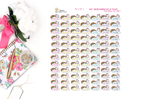 1838P -  UNICORN RAINBOWS -DAYS OF THE WEEK (INSTANT DOWNLOAD)