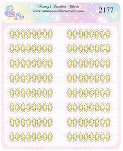 2177 - PASTEL YELLOW BOW HEADERS