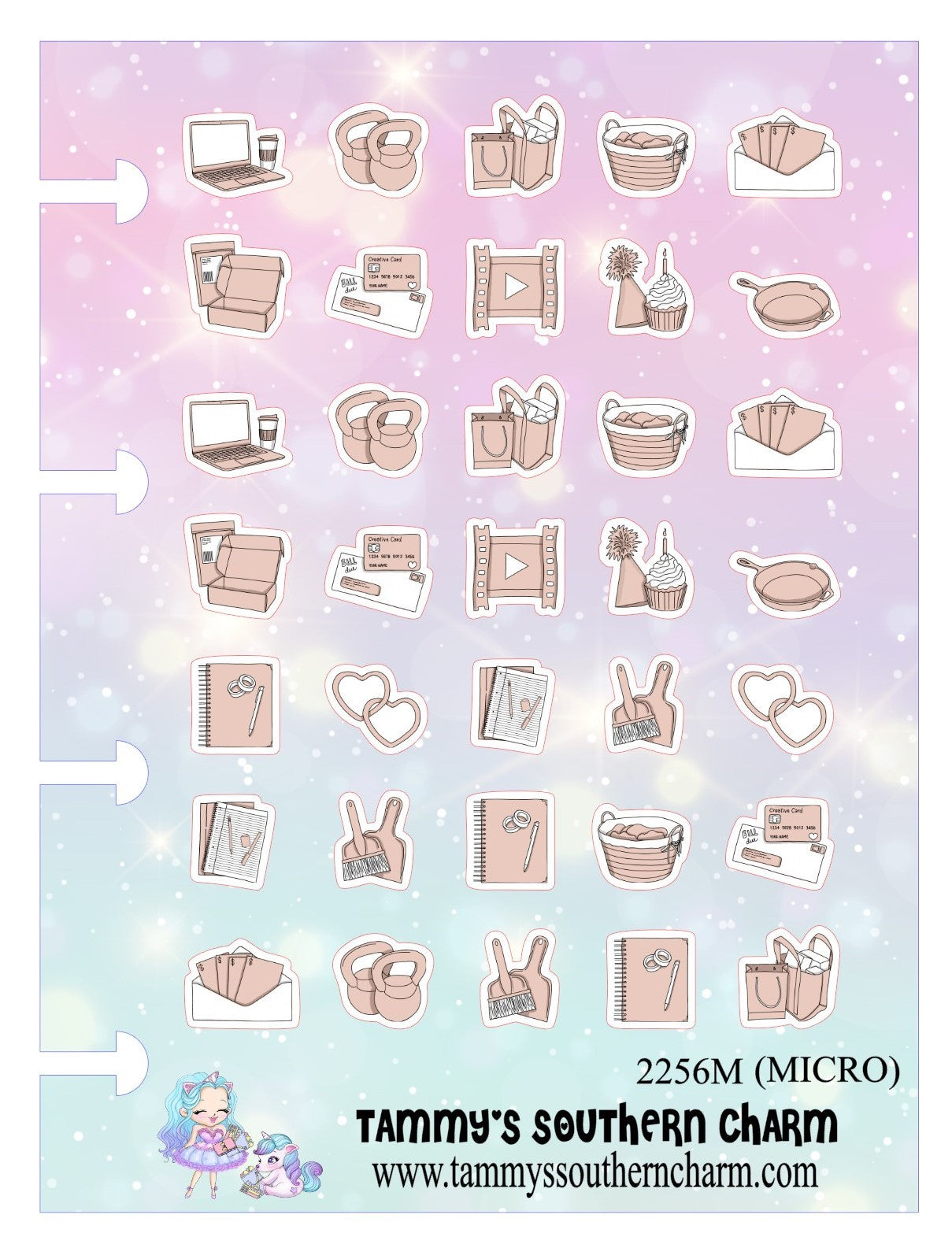 2256M - MICRO PLANNER ICONS - NUDE