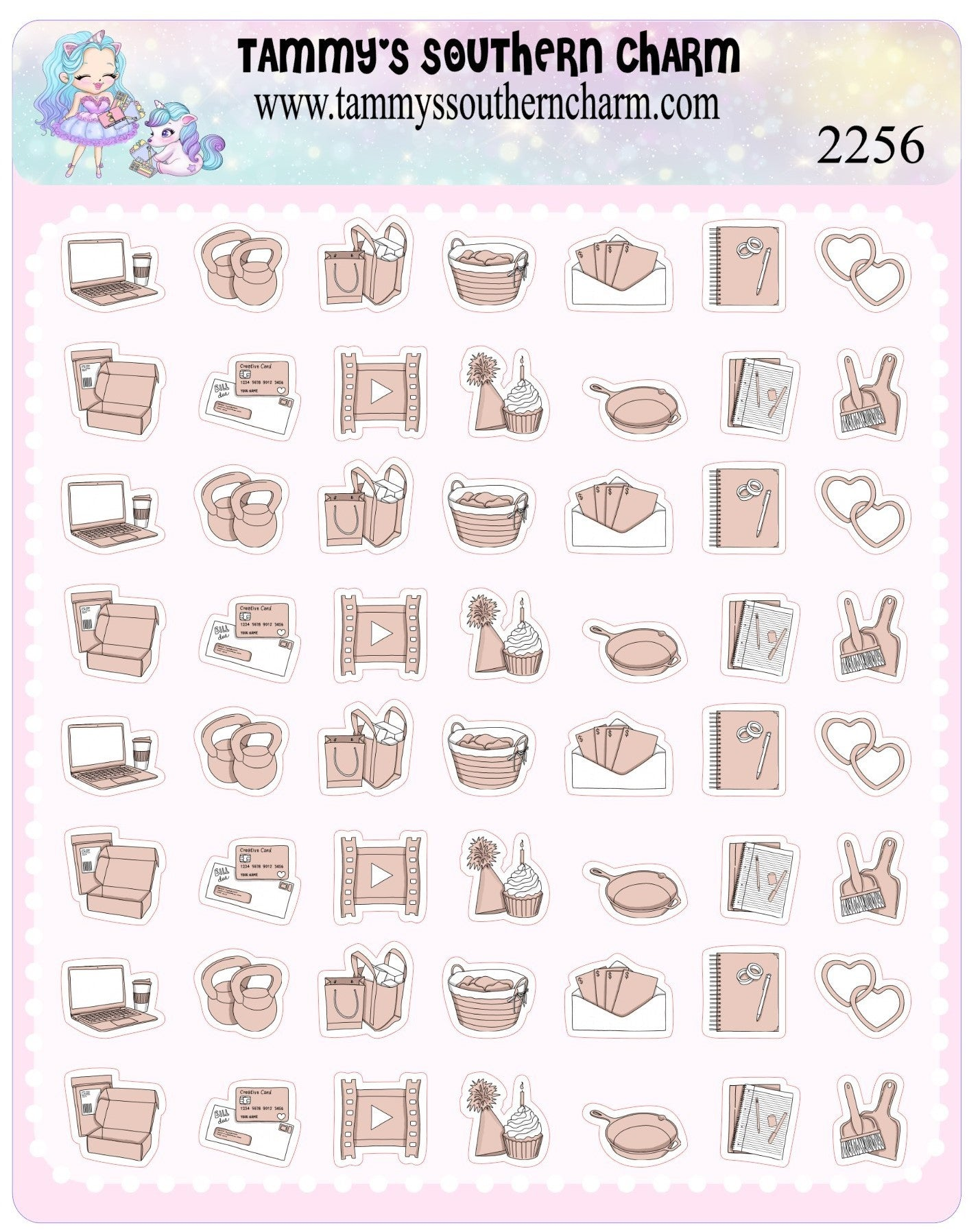 2256 PLANNER ICONS - NUDE