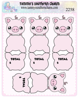 2258 - SAVINGS - FOLD OVER STICKERS